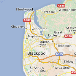 map featuring blackpool beaches click on pins to view beach details